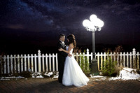 Bride & Groom under the stars, Night time portrait