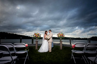 Epic sky with beautiful Bride and Groom